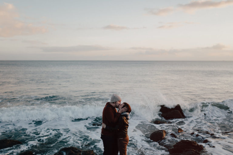 Ocean engagement session in Brittany