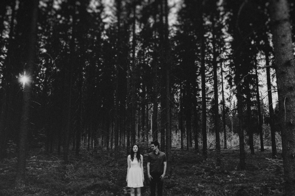 Finland engagement session in the woods and lake