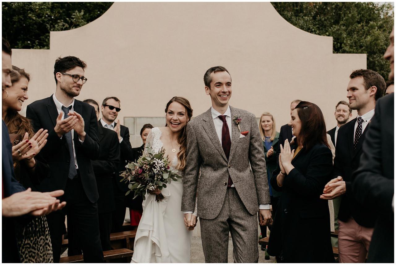Entrée des mariés pendant la cérémonie laïque
