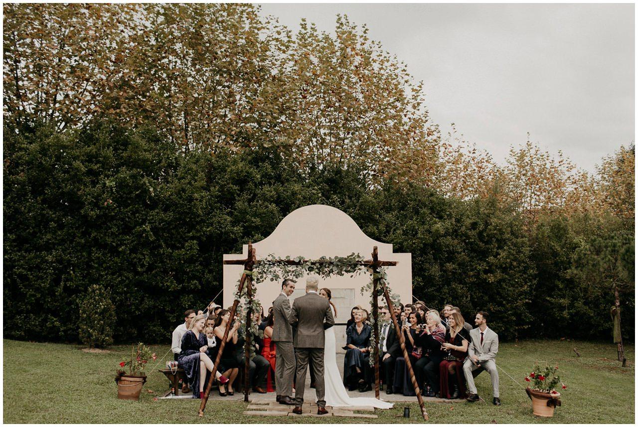 Mariage laïque en extérieur à Ihartze Artea